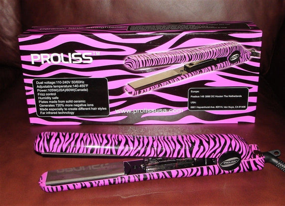Proliss Ceramic Ionic Straightener purpele Zebra