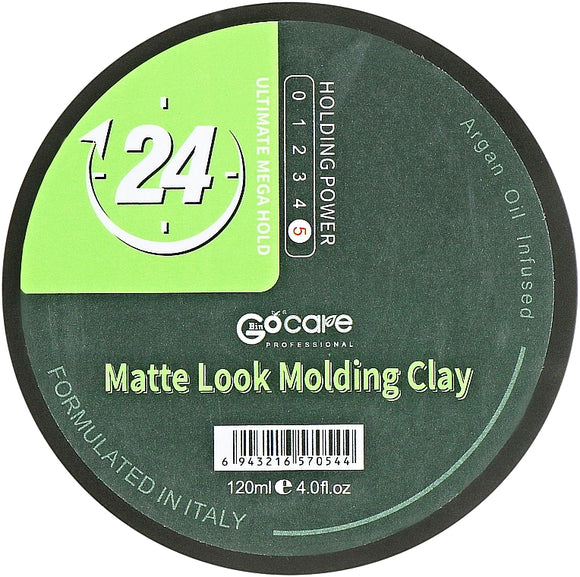 GOCARE matte look hair clay 120ml .Formulated in Italy