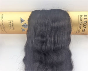Elegance Hair Extensions Dark Brown weft wavy # 1936