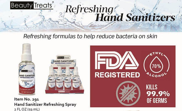 BEAUTY TREATS .REFRESHING HAND SANITIZERS