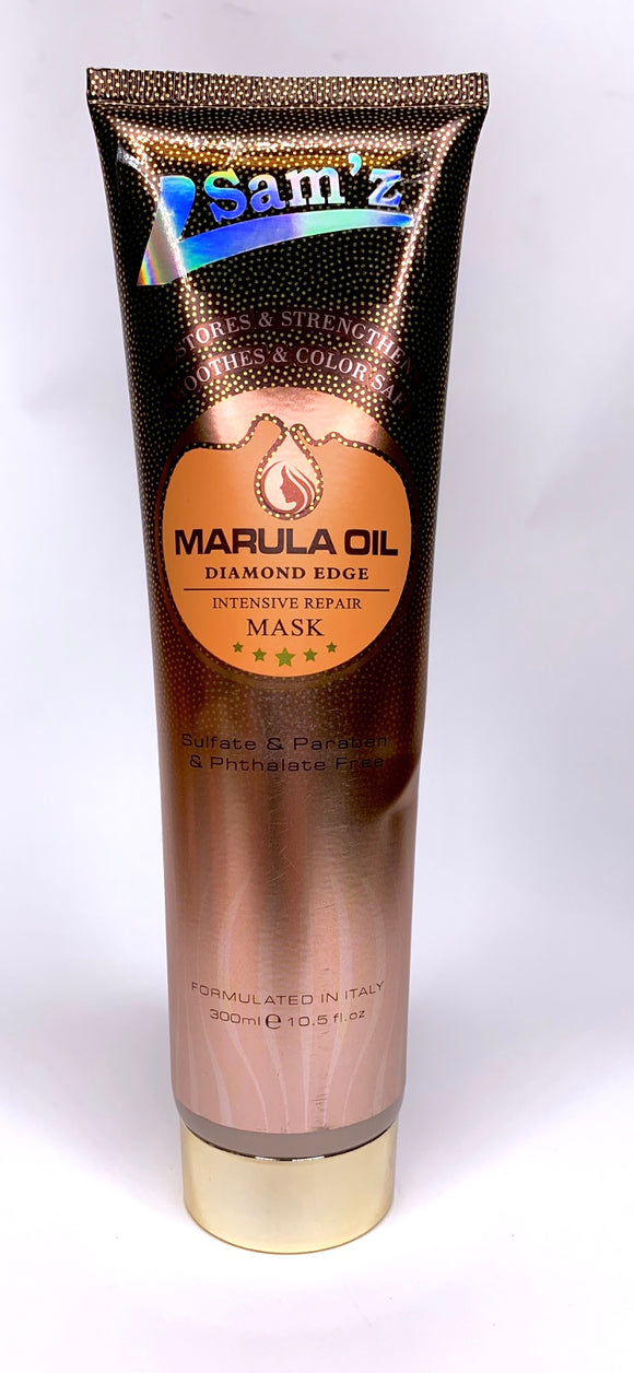 Sam'z.Marula Oil Diamond Edge Intenstive Repair Mask sulfate & PARABEN &Phthalate Free.300 ml