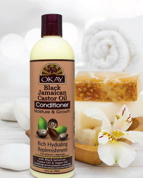 OKAY Black Jamaican Castor Oil Moisture Growth Conditioner 12oz