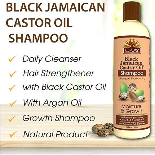 OKAY Black Jamaican Castor Oil Moisture Growth Shampoo 12oz