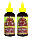 Okay 100% Pure Black Jamaican Castor Oil Lemongrass 4oz