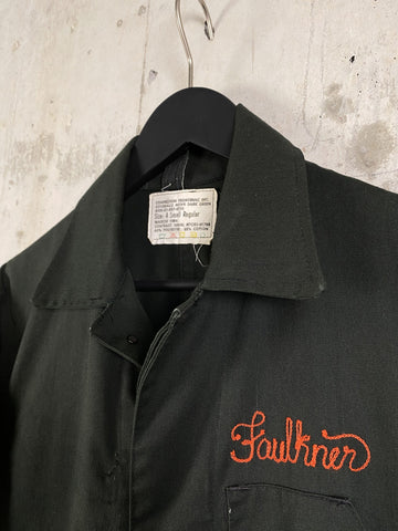 Arte et labore boiler suit with FAULKNER embroidery