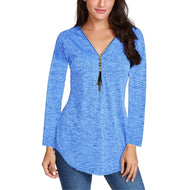 Spring Silk Women's Long Sleeve V-neck