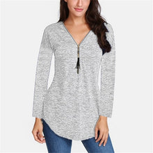 Load image into Gallery viewer, Spring Silk Women's Long Sleeve V-neck