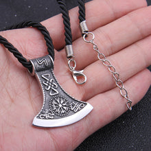 Load image into Gallery viewer, Vegvisir Axe Pendant - Viking Valor