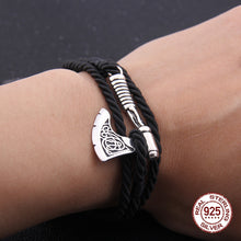 Load image into Gallery viewer, Silver Axe Bracelet