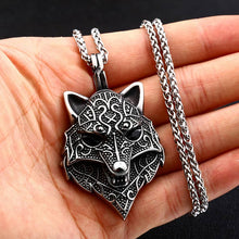 Load image into Gallery viewer, Ferocious Wolf Pendant - Viking Valor