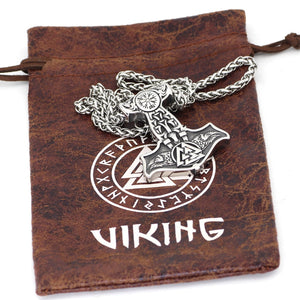 Ravens of Odin Mjolnir Necklace