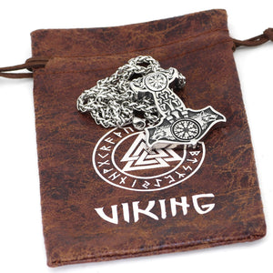 Wolves of Odin Mjolnir Necklace