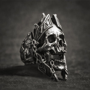Skull King Ring - Viking Valor