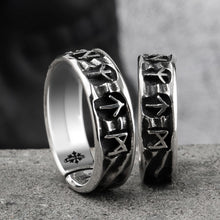Load image into Gallery viewer, Silver Runic Ring