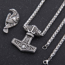 Load image into Gallery viewer, Mjolnir Raven Norse Pendant - Viking Valor