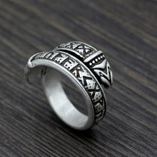 Load image into Gallery viewer, Viking Elder Futhark Ring