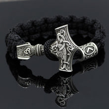 Load image into Gallery viewer, Mjolnir Rune Bracelet