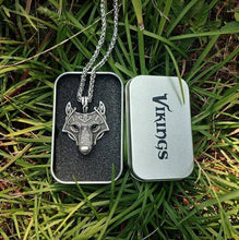 Load image into Gallery viewer, Viking Wolf Head Necklace - Viking Valor