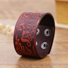Load image into Gallery viewer, Viking Leather Band