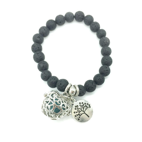Tree Of Life Lava Beads Diffuser Bracelet