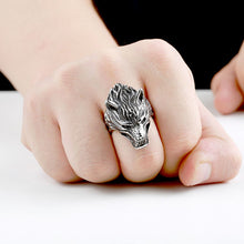 Load image into Gallery viewer, Fierce Fenrir Wolf Ring