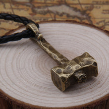 Load image into Gallery viewer, Valknut Mjolnir Necklace