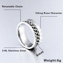 Load image into Gallery viewer, Rotating Rune Ring - Viking Valor