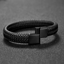 Load image into Gallery viewer, Premium Leather Bracelet - Viking Valor