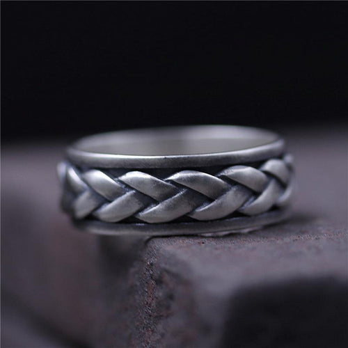 Rotating Braided Ring - 925 Sterling Silver