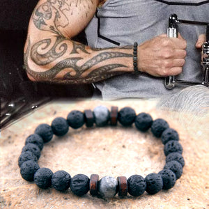 Lava Stone Connection Bracelet