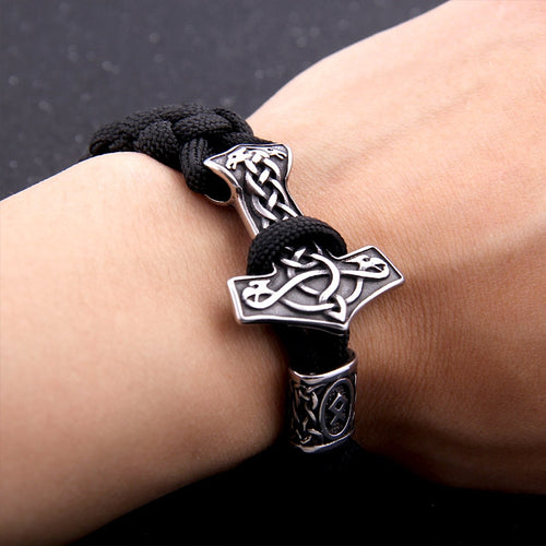 Mjolnir Strength Bracelet - Viking Valor