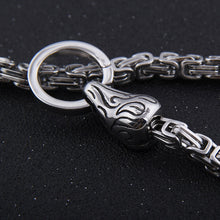 Load image into Gallery viewer, Stainless Steel Raven Chain - Viking Valor