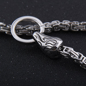 Stainless Steel Raven Chain - Viking Valor