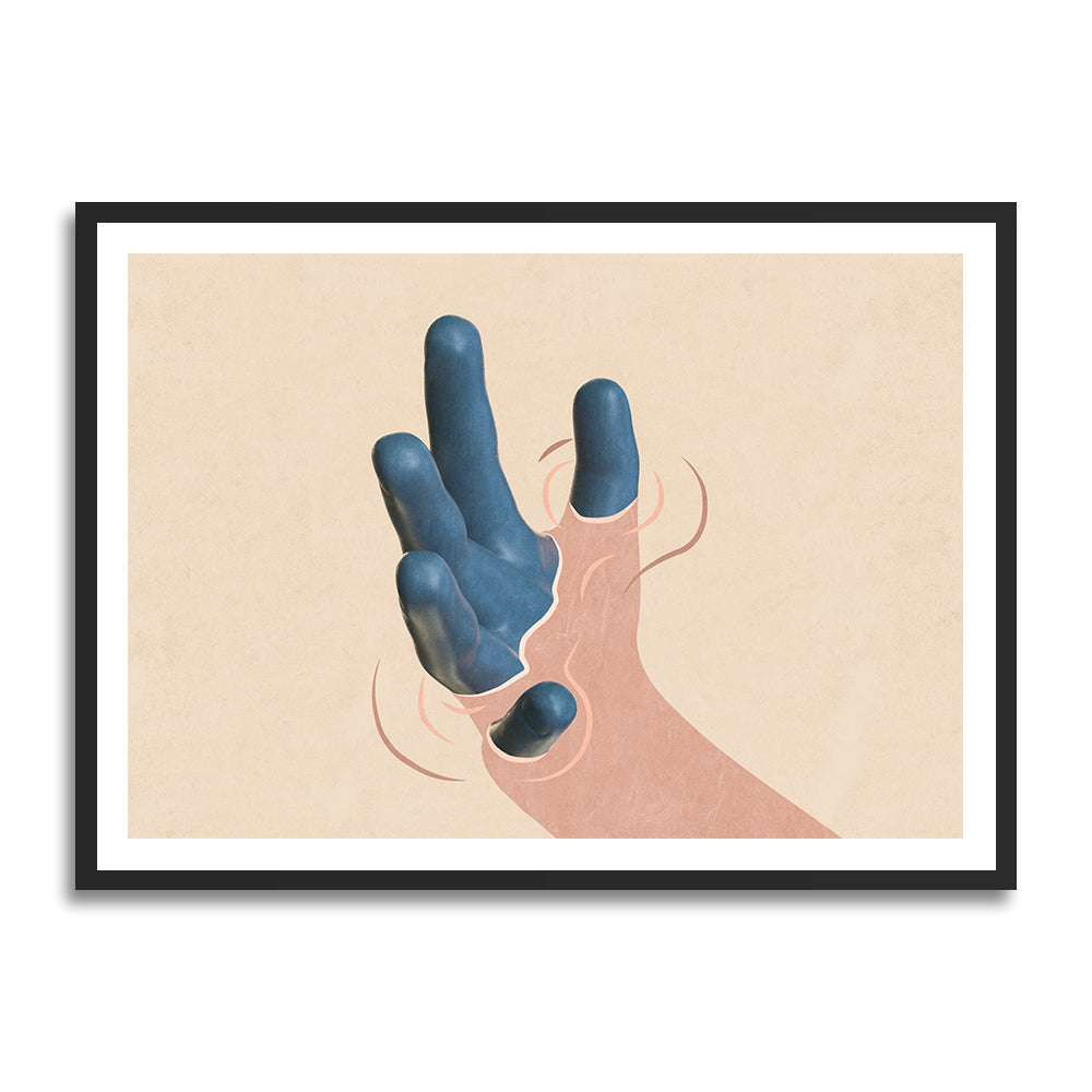 Dimensions prints in collection art print for walls / abstract hand illustration
