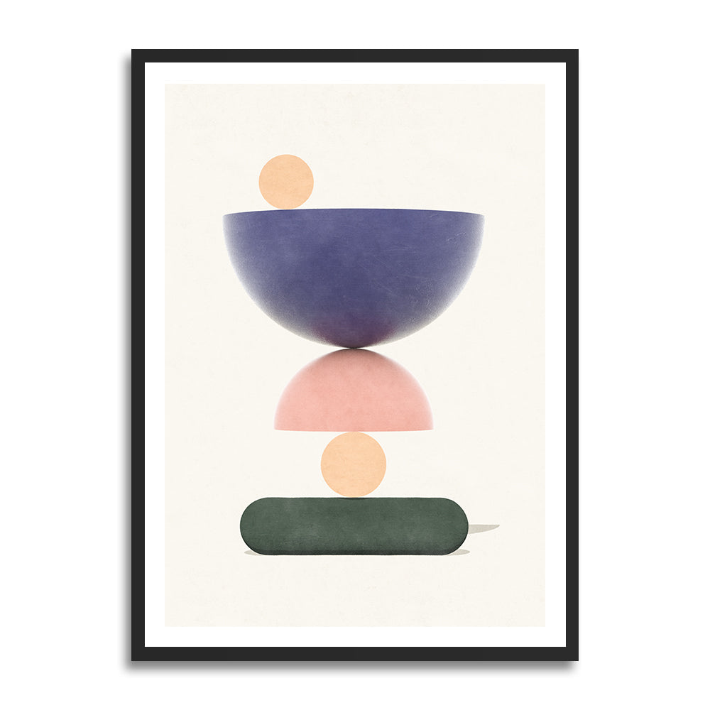 Hammerdal Summer prints in collection art print for walls / abstract shape