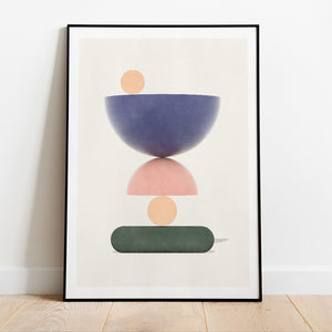 Hammerdal Summer prints in collection art print for walls / framed abstract shape