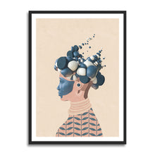 Load image into Gallery viewer, Helen prints in collection art print for walls / afro futurism women