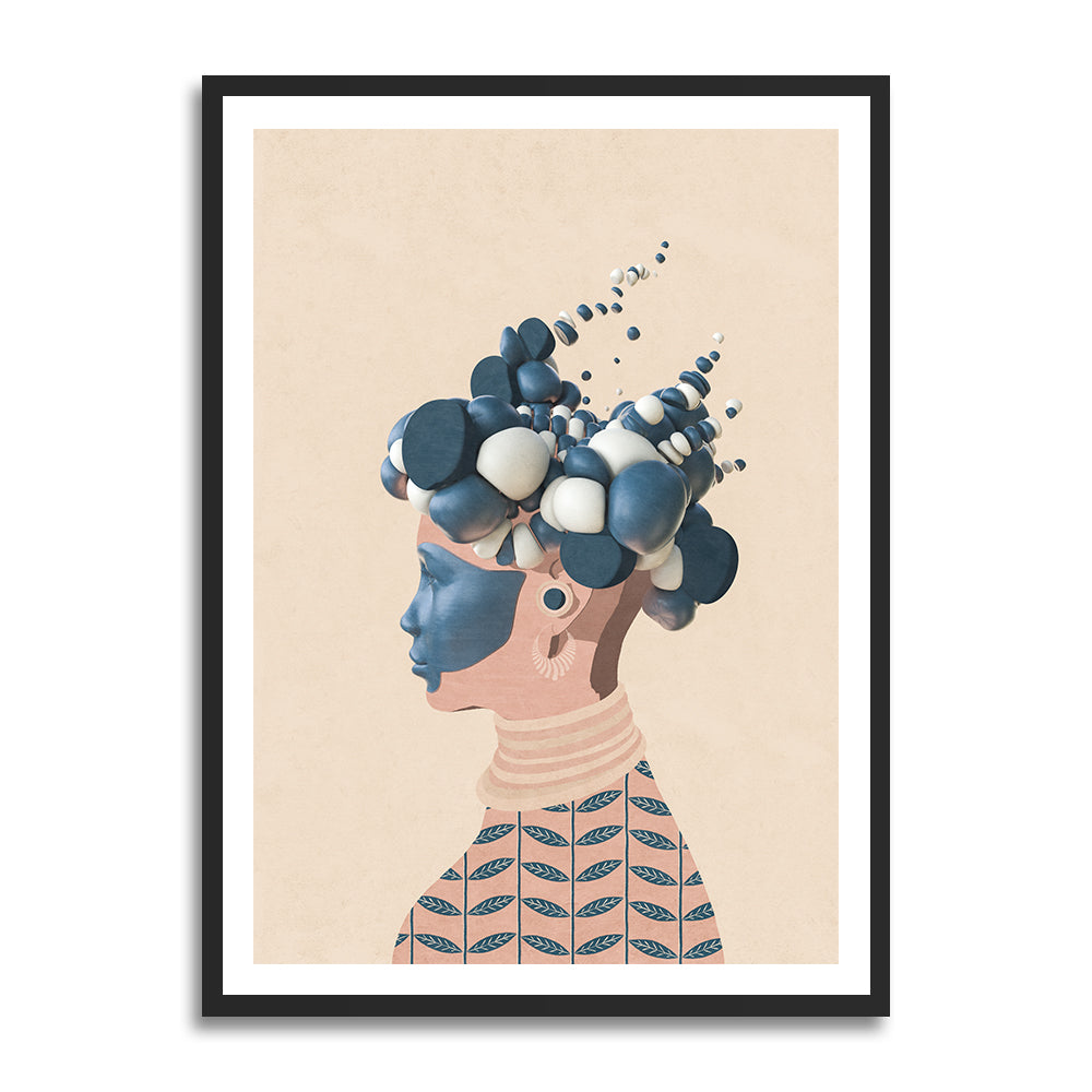 Helen prints in collection art print for walls / afro futurism women