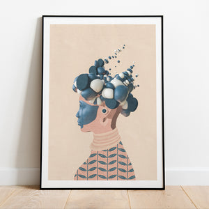 Helen prints in collection art print for walls / framed afro futurism women