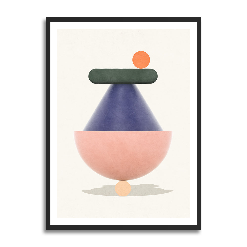 Örum Birthday prints in collection art print for walls / abstract shape illustration