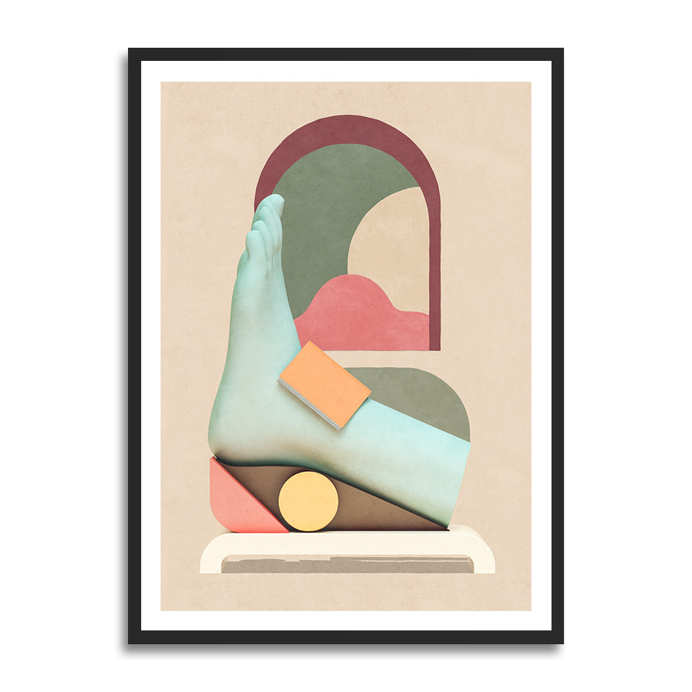 Going Solo prints in collection art print for walls / surreal foot illustration