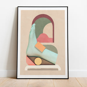 Going Solo poster in collection art print for walls / framed surreal foot illustration