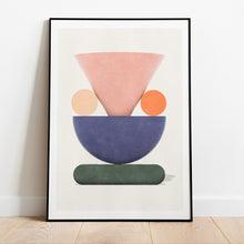 Load image into Gallery viewer, Trosa Wedding prints in collection art print for walls / framed abstract shape design