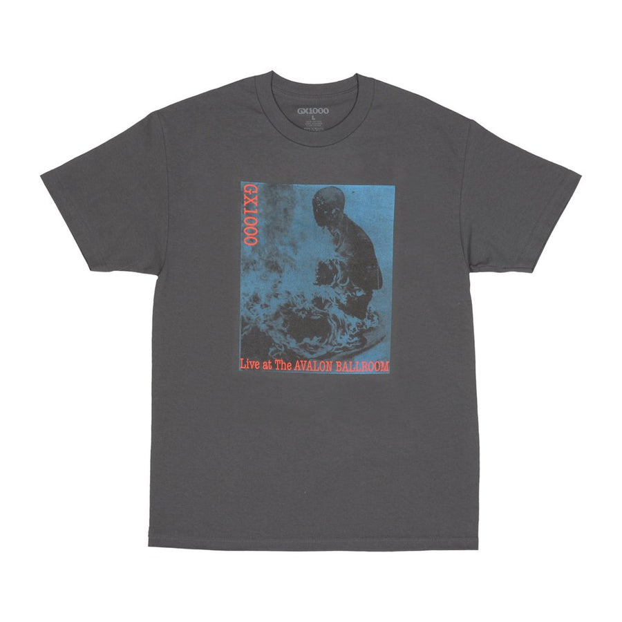 gx1000 live at the Avalon t-shirt charcoal packshot