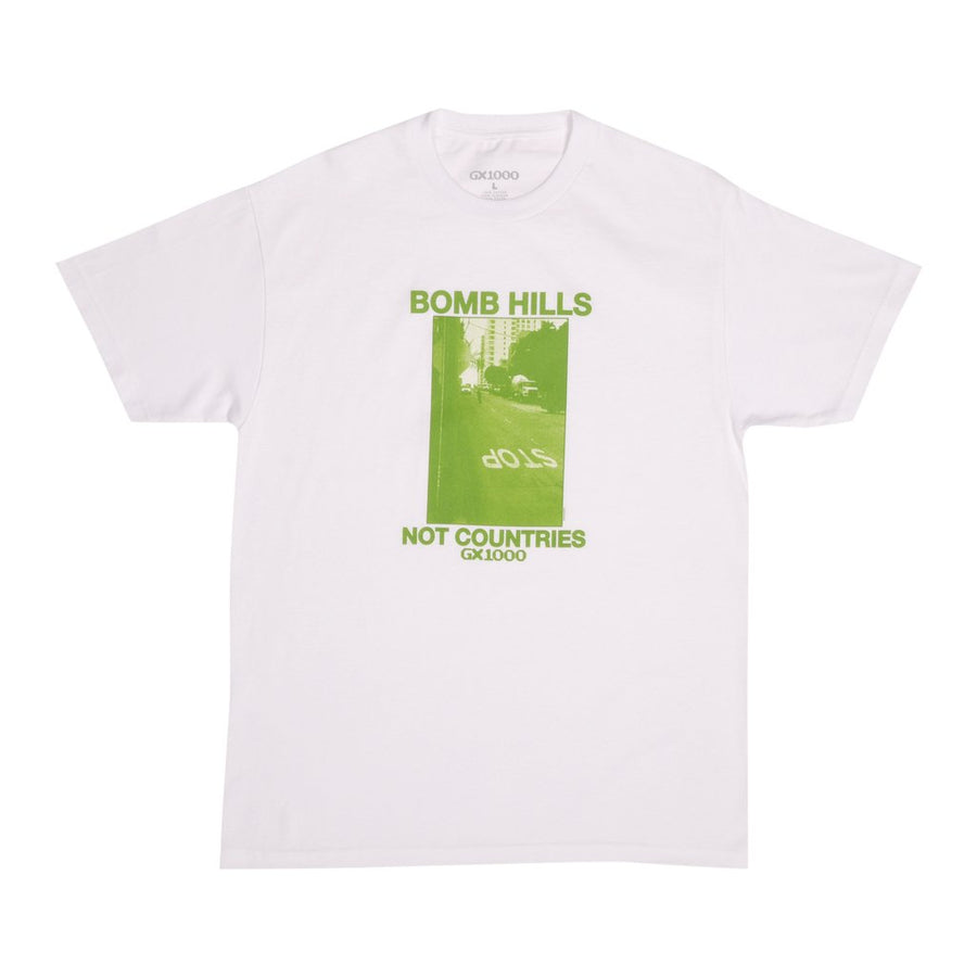 gx1000-bomb hills not countries white t-shirt packshot