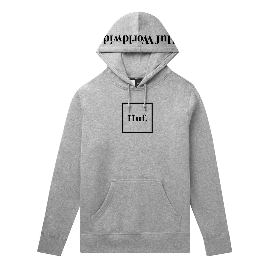 BOX LOGO PULLOVER HOODIE GRÅ FRONT