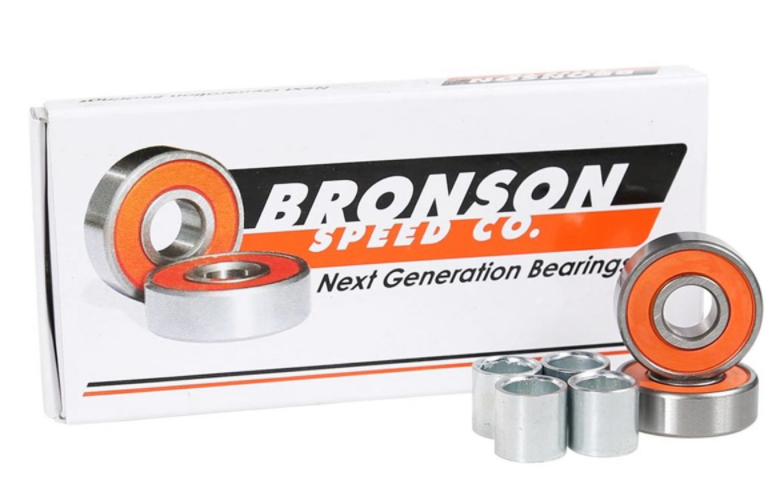 Bronson Bearings - standard kugleleje, set med kassen og orange skjold