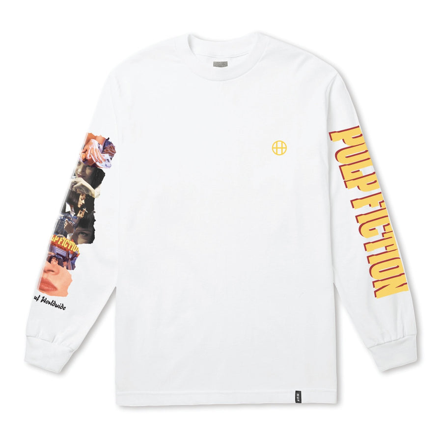 HUF - COLLAGE L/S TEE HVID FRONT