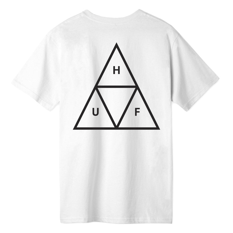 HUF - ESSENTIALS TT S/S TEE WHITE BACK
