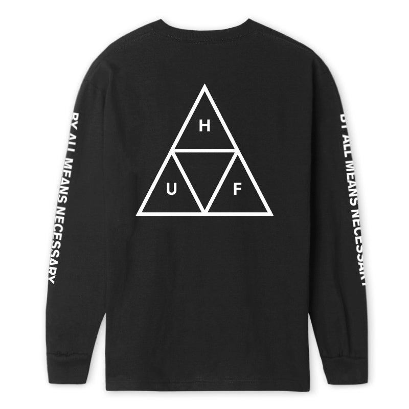 HUF - ESSENTIALS TT L/S TEE BLACK BACK